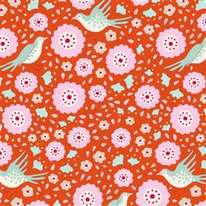 Tilda Tilda Fabric - Bird Pond Collection - Lovebirds Ginger