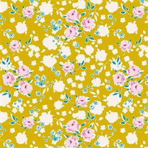 Tilda Tilda Fabric - Apple Butter Collection - Bonnie Mustard