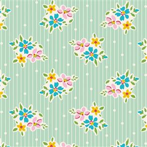 Tilda Tilda Fabric - Apple Butter Collection - Nancy Teal