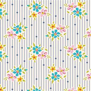 Tilda Tilda Fabric - Apple Butter Collection - Nancy Blue
