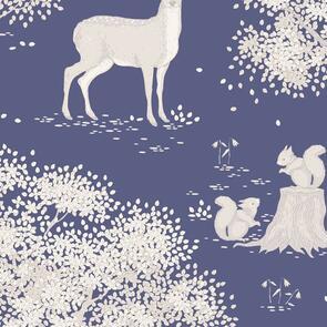 Tilda Tilda Fabric - Woodland Collection - Woodland Blue