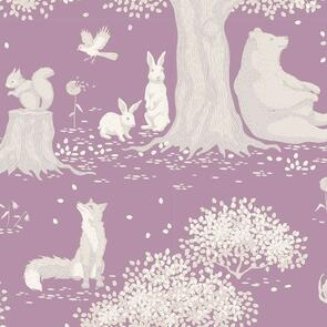 Tilda Tilda Fabric - Woodland Collection - Woodland Mauve