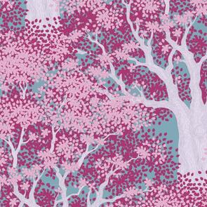 Tilda Fabric - Woodland Collection - Juniper Plum