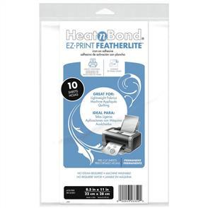 "HeatnBond EZ-Print Featherlite Iron-On Adhesive 8.5""X11"" 10/Pkg"