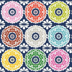 Blend Fabrics  Gabbie Collection - Kaleidoscope Navy