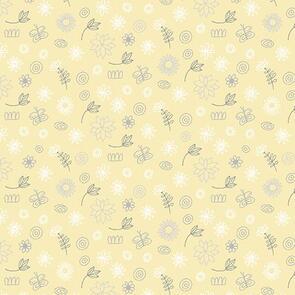 Trendy Trims - Fabric - Contempo Baby Buddies - 10284-03 - Yellow