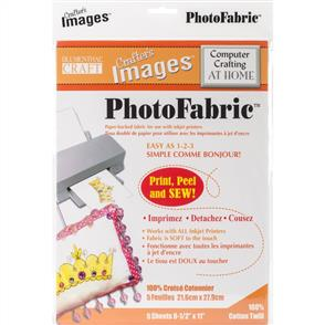 "Crafter's Images Photofabric 8.5""X11"" 5/Pkg - Cotton Twill"