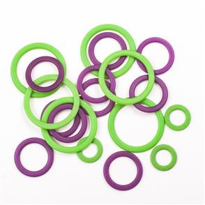 Knitpro  KnitPro: Stitch Ring Markers 50/Pkg assorted sizes