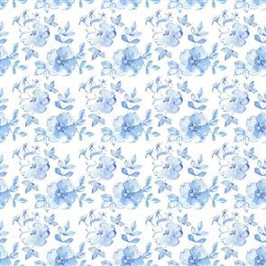 In the Beginning Fabrics  - Tonal Floral Blue 10TLC-1