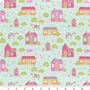 Tilda Tilda Fabric - Tiny Farm - Farm Mist