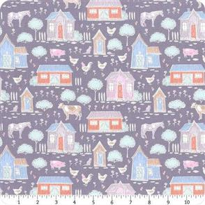 Tilda Tilda Fabric - Tiny Farm - Farm Blueberry
