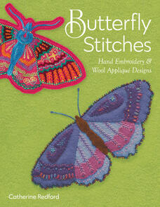 C&T Publishing Butterfly Stitches : Hand Embroidery & Wool Applique Designs