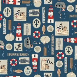 Blank Quilting  Harbor Days 1160-77 Navy