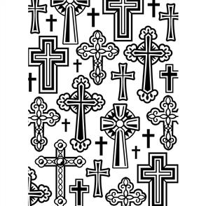 Darice  Embossing Folder - Crosses