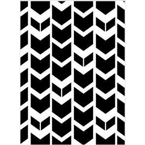 Darice Embossing Folder - Tribal Chevron