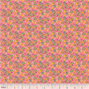 Blend Fabrics  Mia Charro Fabric - Forest Friends - Delicate Watercolour Pink