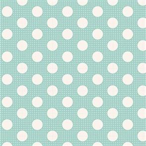 Tilda Tilda Fabric - Basics - Medium Dots Teal