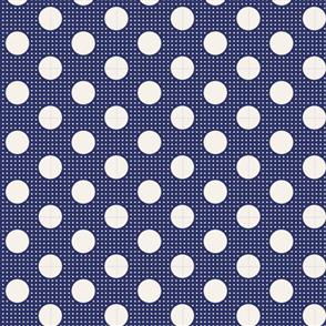 Tilda Tilda Fabric - Basics - Medium Dots Night Blue