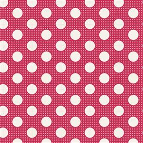 Tilda  Fabric - Basics - Medium Dots Red