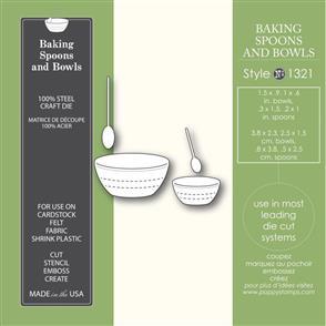 Poppystamps Baking Spoons & Bowls - Die
