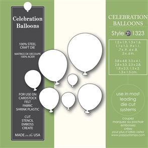 Poppystamps Celebration Balloons - Die