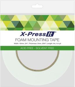 X-Press It  - Double Sided Foam Mounting Tape - 18mm wide x 2m thick
