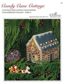 The Victoria Sampler Gingerbread Candy Cane Cottage