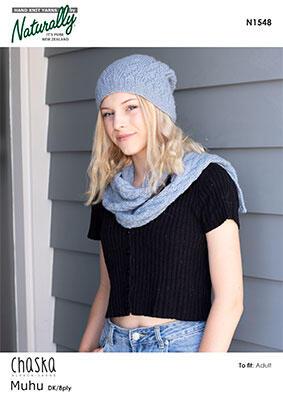 Naturally N1548 Hat & Scarf Knitting Knitting
