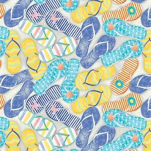 Blank Quilting  Fabric - Beach Bound 1455-70 - Multicoloured
