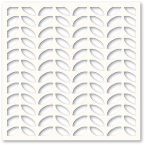 Memory Box Art Stencil - Leafy Rows Stencil