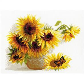 Riolis  Hot Summer - Sunflowers - Cross Stitch Kit