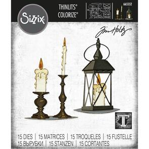 Sizzix Tim Holtz Thinlits Die Set - Candleight, Colorize