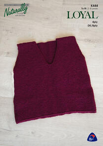 Naturally Garter Stitch Vest, 2 - 8 years
