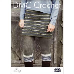 DMC  Crochet - Woolly 5 - Tweedie Skirt and Boot Cuffs
