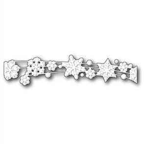 Poppystamps  Die - Snowflake Shimmer Ribbon