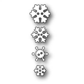 Poppystamps  Die - Frosty Snowflake Buttons