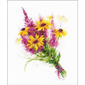 Riolis  Bouquet With Coneflowers - Cross Stitch Kit