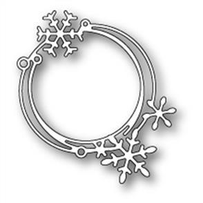 Poppystamps  Die - Scribble Snowflake Circle
