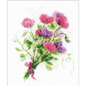 Riolis  Bouquet With Sweet Peas - Cross Stitch Kit