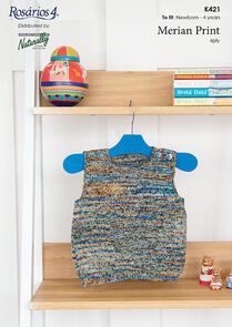 Naturally K421 Vest with Pocket Knitting Pattern