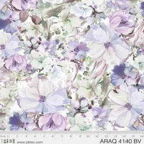 P & B Textiles Arabesque Watercolour Floral PB4140BV