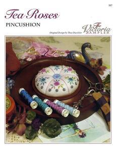 The Victoria Sampler  Tea Roses Pin Cushion