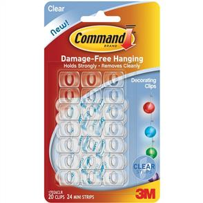 3M  Command -Decorating Clips 20pk