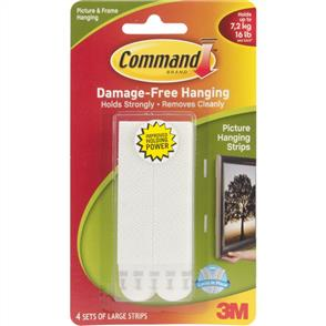 3M  Command - Picture Hanging Strips Large 4 Sets