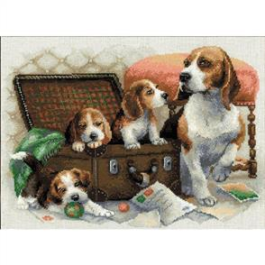 Riolis  Canine Family - Counted Cross Stitch Kit