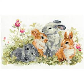 Riolis  Funny Rabbits - Counted Cross Stitch Kit