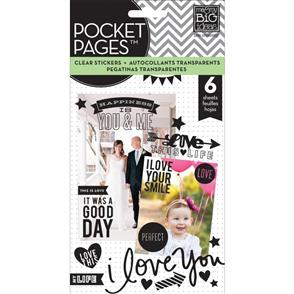 Me & My Big Ideas  Love - Clear Stickers - 6 Sheets