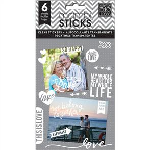 Me & My Big Ideas  True Love - Clear Stickers - 6 Sheets