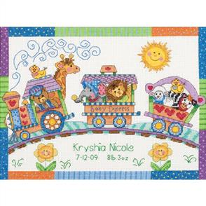 Dimensions  Baby Express Birth Record - Cross Stitch Kit