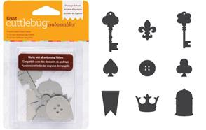 Cuttlebug Embossables Metal Shapes 10/Pkg VINTAGE